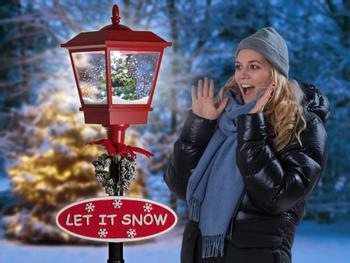 LED-valaistu lumisadekatulyhty