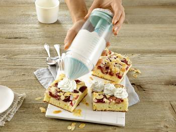 2-in-1 Cream Whipper with Spray Nozzle