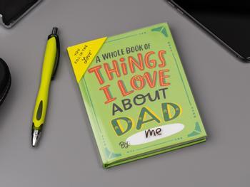 Things I Love About Dad täytettävä kirja