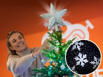 Spralla Joulukuusen tähti projektorilla