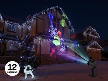 Spralla LED-ulkoprojektori liikkuvilla kuvioilla