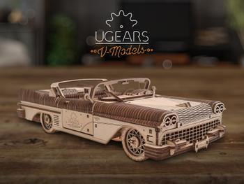 Ugearin puinen 3D-palapeli - Cabriolet