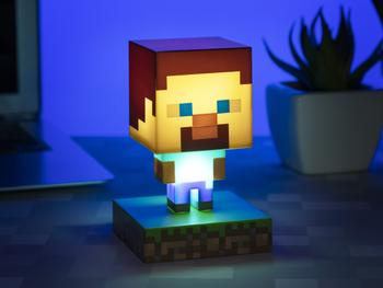 Minecraft Steve Lamppu