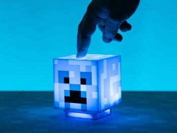 Minecraft Charged Creeper Lamppu