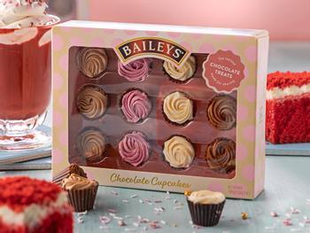 Baileys Cupcakes -suklaarasia