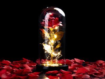 Spralla® Lumottu Ruusu -lamppu