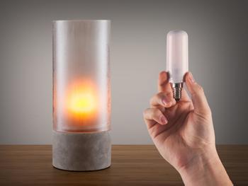 Liekehtivä LED-lamppu
