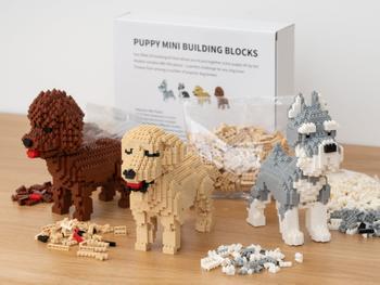 Koiranpentu Mini 3D-rakennussarja