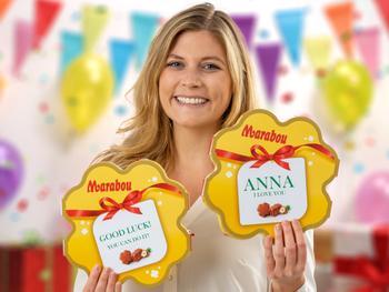 Maraboun Kiitos-suklaarasia Omalla Tekstillä